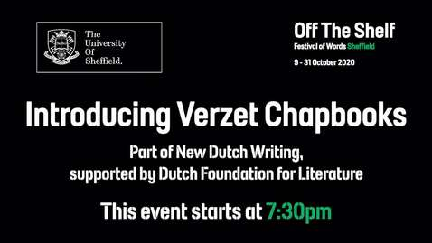 Thumbnail for entry Verzet books launch (New Dutch Writing) | Live In Conversation | Off the Shelf