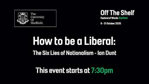 Thumbnail for entry How to be A Liberal | Live In Conversation | Off the Shelf