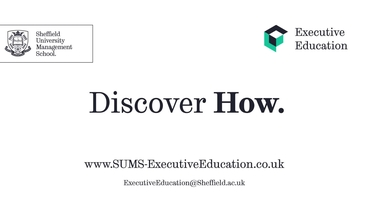 Executive Education - Management School - The University of Sheffield