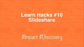 Thumbnail for entry ScHARR Learn Hacks #10 Slideshare