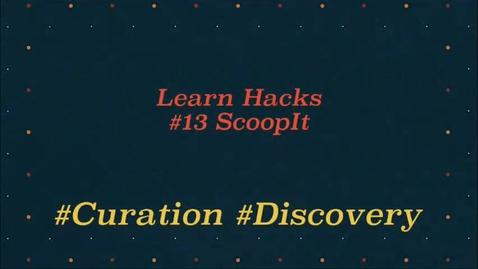 Thumbnail for entry ScHARR Learn Hacks #13 Scoop it