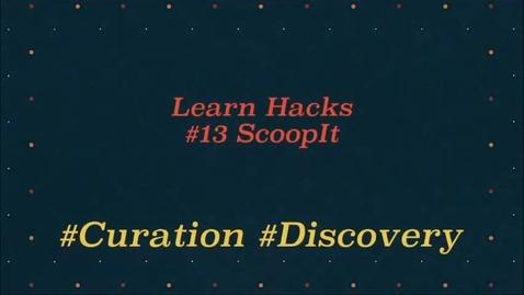 Thumbnail for entry ScHARR Learn Hacks #13 Scoop it