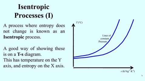 Thumbnail for entry 11c Second law processes and the T-s diagram