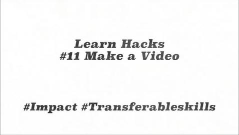 Thumbnail for entry ScHARR Learn Hacks #11 Make a video