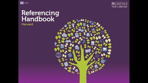 Thumbnail for entry ScHARR App Hacks - Harvard Referencing Handbook
