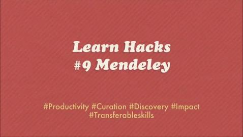 Thumbnail for entry ScHARR Learn Hacks #9 Mendeley
