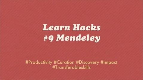 Thumbnail for entry ScHARR Learn Hacks #9 Mendeley