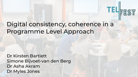 Thumbnail for entry Digital consistency, coherence in a Programme Level Approach
