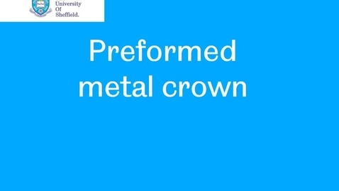 Thumbnail for entry Preformed metal crown