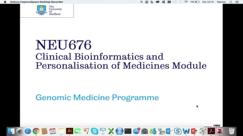 Thumbnail for entry NEU676 Clinical (Advanced) Bioinformatics Module Overview