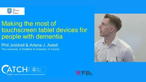 Thumbnail for entry Making the most of touchscreen tablet devices for people with dementia