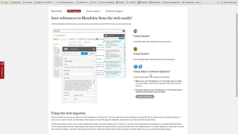 Thumbnail for entry Mendeley Masterclass #10 - Using the Web Importer