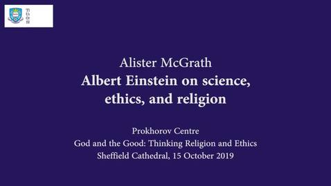 Thumbnail for entry Alister McGrath delivers Prokhorov - God and the Good Lecture