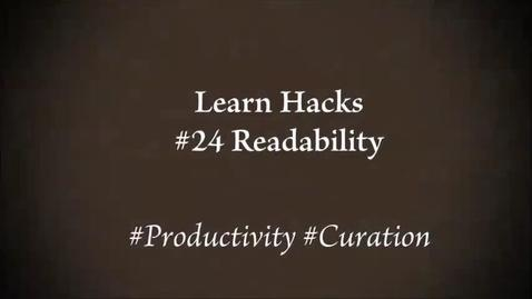 Thumbnail for entry ScHARR Learn Hacks #24 Readability