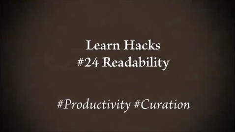Thumbnail for entry ScHARR Learn Hacks #24 Readability
