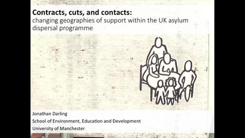 Thumbnail for entry Contracts, cuts and contacts: changing geographies of support within the UK asylum dispersal programme