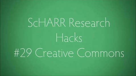 Thumbnail for entry ScHARR Research Hacks #29 Creative Commons Search