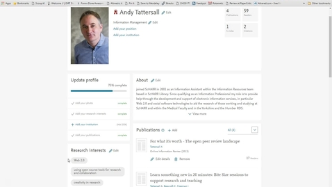 Thumbnail for entry Mendeley Masterclass #15 - Updating your Mendeley Profile