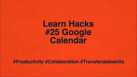 Thumbnail for entry ScHARR Learn Hacks #25 Google Calendar