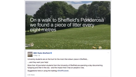 Thumbnail for entry Creating a Social Media Video for BBC Radio Sheffield