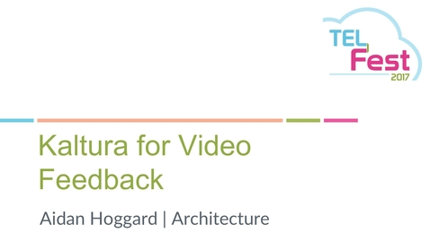 Thumbnail for entry Kaltura Pilot Feedback: Architecture - Aidan Hoggard