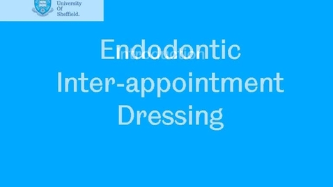 Thumbnail for entry Endodontic inter-appointment dressing