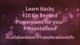 Thumbnail for entry ScHARR Learn Hacks #20 Go beyond Powerpoint