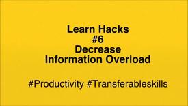 Thumbnail for entry ScHARR Learn Hacks #6 Information Overload