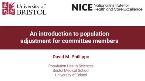 Thumbnail for entry An introduction to population adjustment for committee members