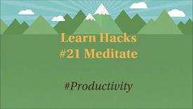 Thumbnail for entry ScHARR Learn Hacks #21 Meditate
