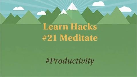 Thumbnail for entry ScHARR Learn Hacks #21 Meditate