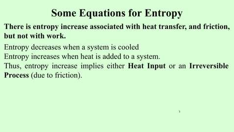 Thumbnail for entry 11d Some equations for entropy