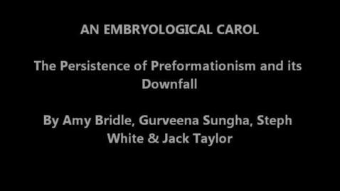Thumbnail for entry An Embryological Carol