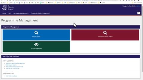 Thumbnail for entry CUR Interim Programme Management Demo (14 Aug 19)