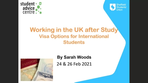 Thumbnail for entry Post study work visas for international students