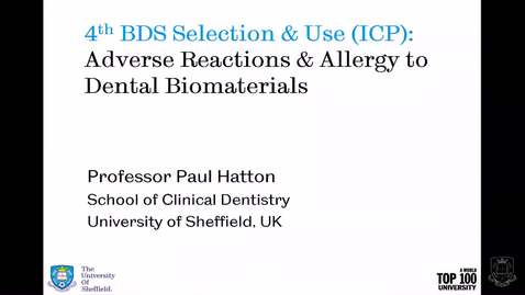 Thumbnail for entry Adverse Reactions to Dental Materials - Quiz