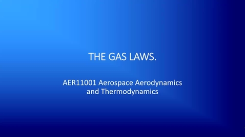 Thumbnail for entry 8b Ideal gas laws