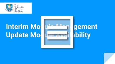 Thumbnail for entry IMM Module Availability
