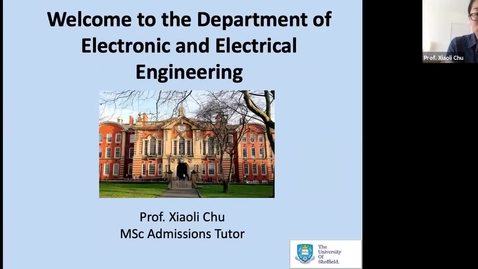 Thumbnail for entry Postgraduate degrees in the Department of Electronic & Electrical Engineering