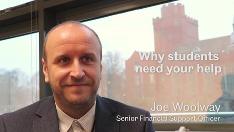 Thumbnail for entry Why students need your help - Sheffield Scholarships