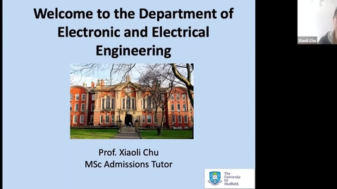 Thumbnail for entry Postgraduate degrees in the Department of Electronic and Electrical Engineering