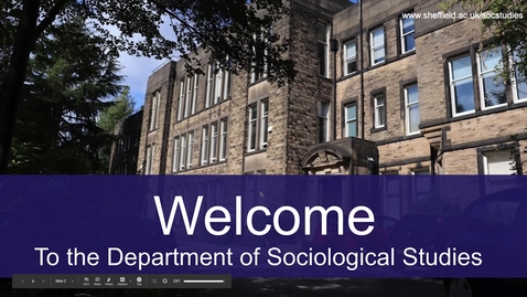 Thumbnail for entry Sociology Applicant Day presentation November 2020