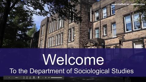 Thumbnail for entry Sociology Applicant Day presentation November 2020