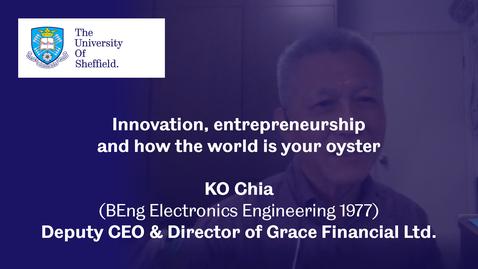 Thumbnail for entry Sheffield Insights - KO Chia