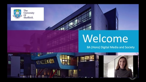 Thumbnail for entry BA (Hons) Digital Media and Society Presentation for Virtual Applicant Day 2020