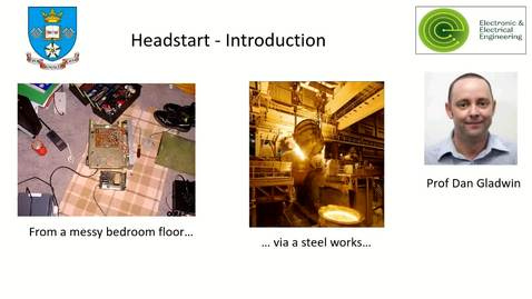 Thumbnail for entry Introduction to Electronic & Electrical Engineering - Dr Dan Gladwin's journey