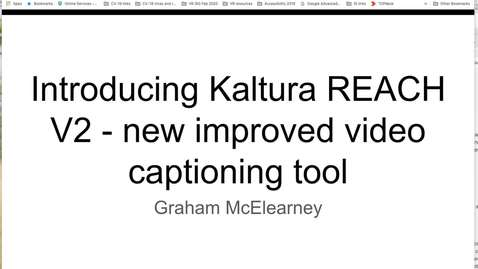Thumbnail for entry Kaltura Reach V 2 May 2020