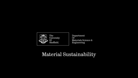 Thumbnail for entry Dr Lucy Smith - Materials Sustainability