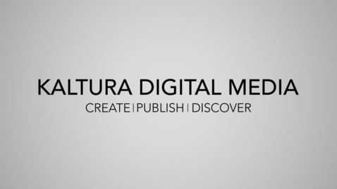 Kaltura Digital Media at The University of Sheffield