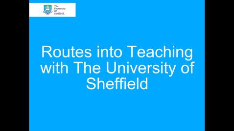 Thumbnail for entry Routes into Teaching Presentation (PGT Open Day)